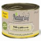 NATURDOG LATA DE POLLO Y PATO CON MIJO 200GR