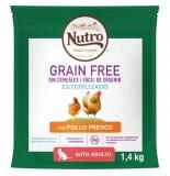 NUTRO GRAIN FREE GATO ESTERILIZADO 1.4KG