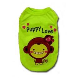 CAMISETA PARA PERRO PUPPY LOVE VERDE