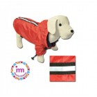 IMPERMEABLE REFLECTANTE ROJO PARA PERROS