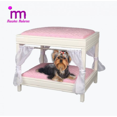 cama para perros con dosel